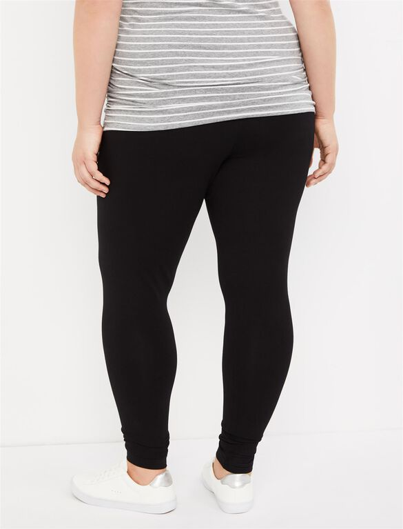 Plus Size Secret Fit Belly Maternity Leggings, Black