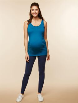 Secret Fit Belly Speckled Maternity Leggings, Navy Speckle