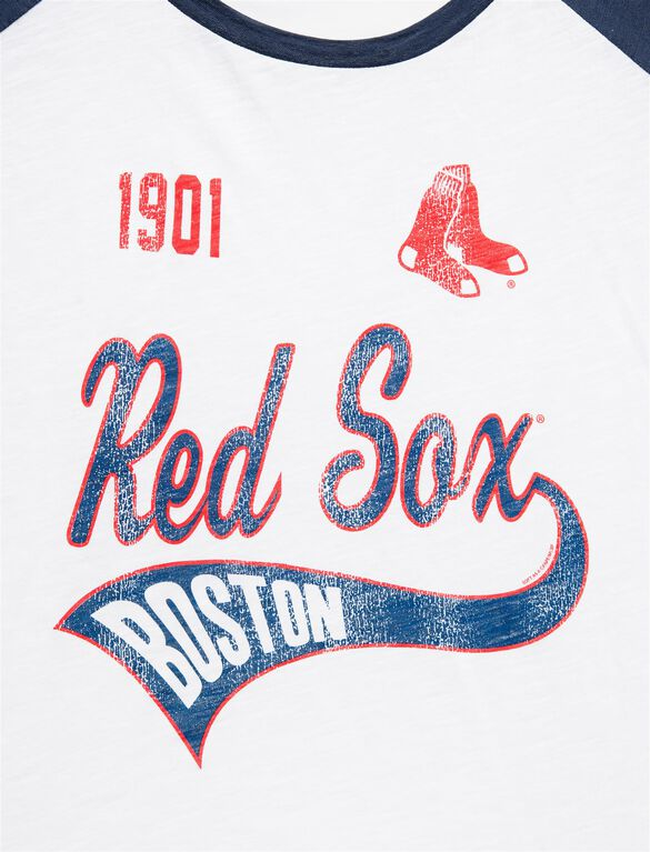 Boston Red Sox Raglan Sleeve MLB Maternity Graphic Tee, Red Sox