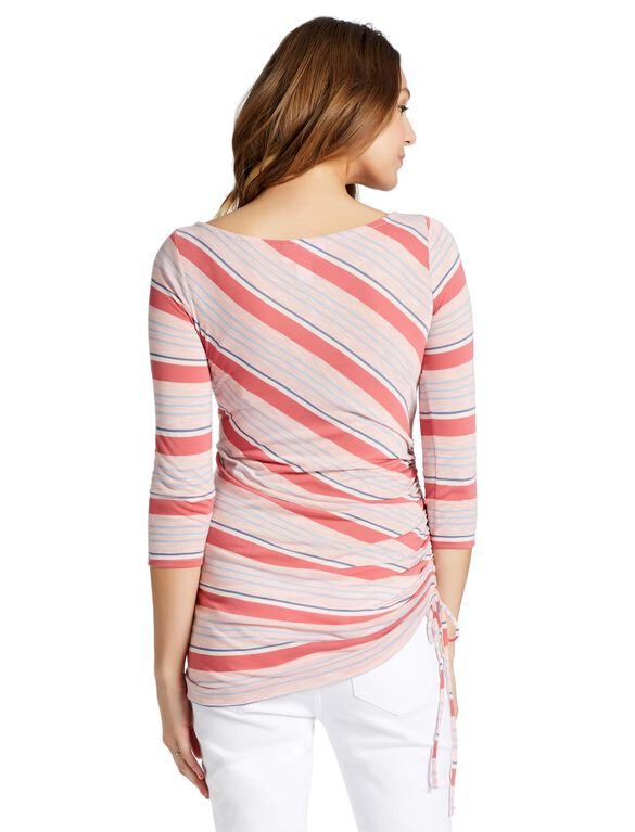 Jessica Simpson Side Tie Maternity Shirt- Red Stripe, Red Stripe