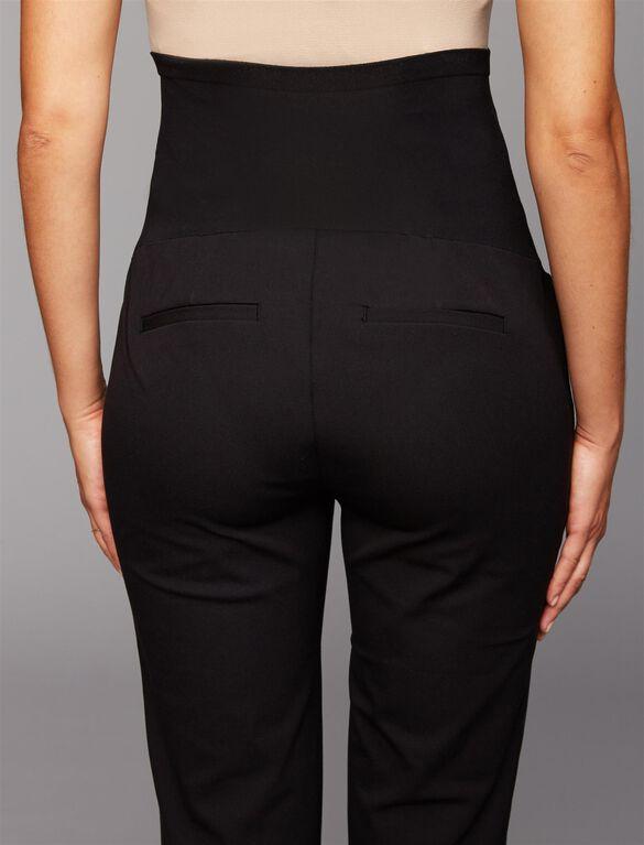 Secret Fit Belly Twill Straight Leg Maternity Pants, Black