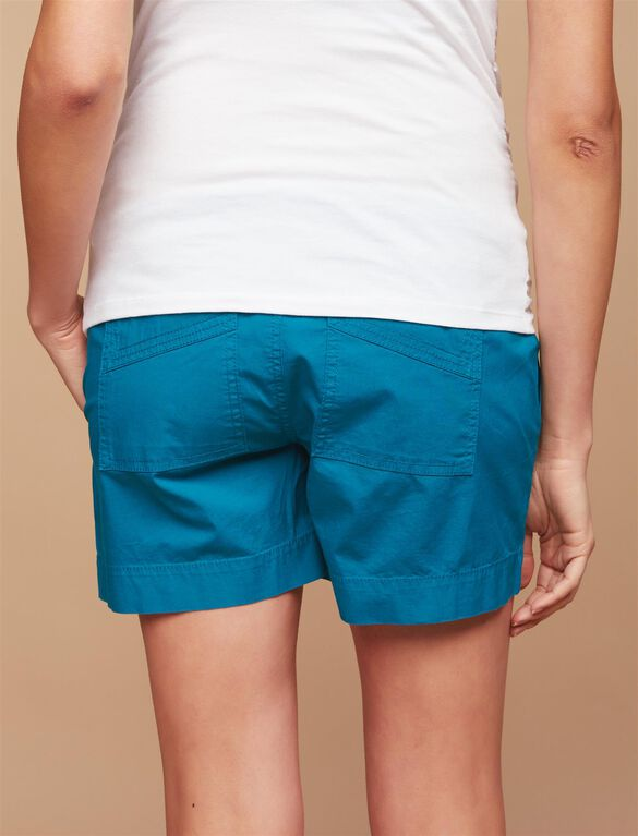 Secret Fit Belly Lightweight Maternity Shorts, Turquoise/Teal