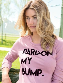Pardon My Bump Maternity Sweatshirt, Mauve