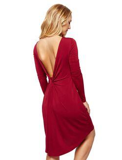 BCBGMAXAZRIA Back Interest Maternity Dress, Cranberry