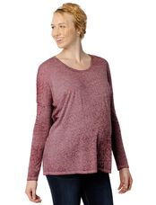 Dolman Sleeve Burnout Maternity Tee, Dark Red