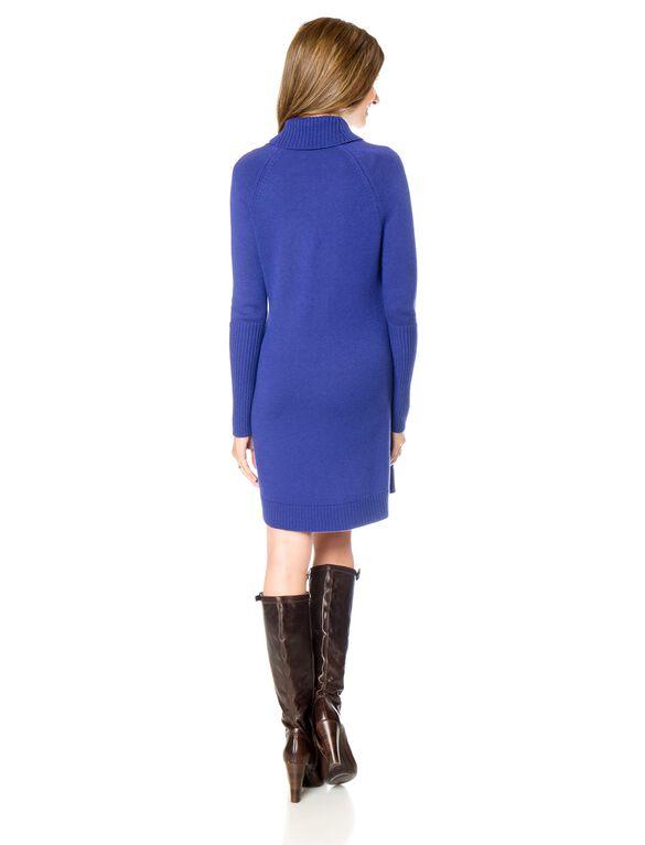 Isabella Oliver Cowl Neck Maternity Dress, Blue