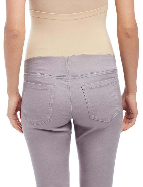 Secret Fit Belly Skinny Twill Maternity Pants- Stone, Pale Stone