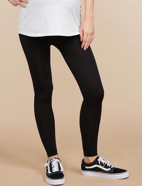Seamless Maternity Leggings, Black