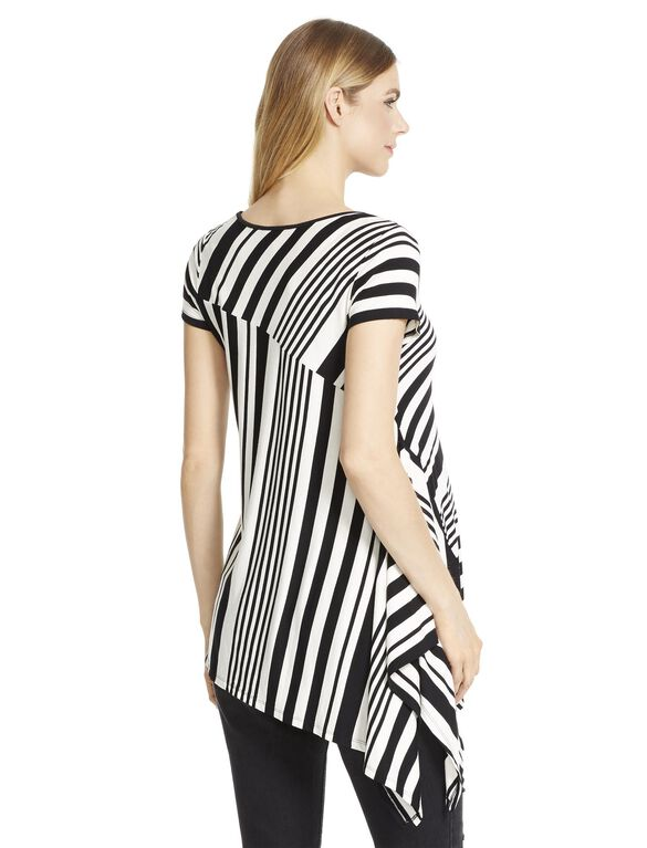 Jessica Simpson Trapeze Maternity T Shirt- Black/white, White/Black Stripe