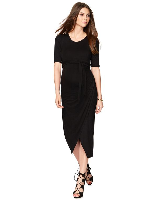 Isabella Oliver Maternity Dress, Caviar Black