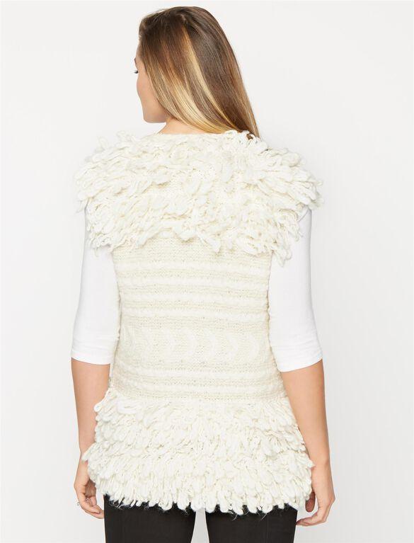 BCBGMAXAZRIA Textured Maternity Vest, Corozo Combo Print