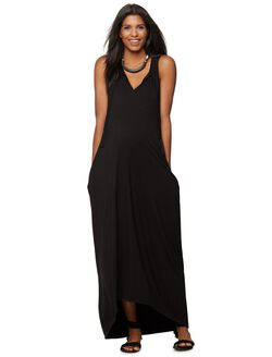 Rachel Zoe Knit Maternity Maxi Dress, Black