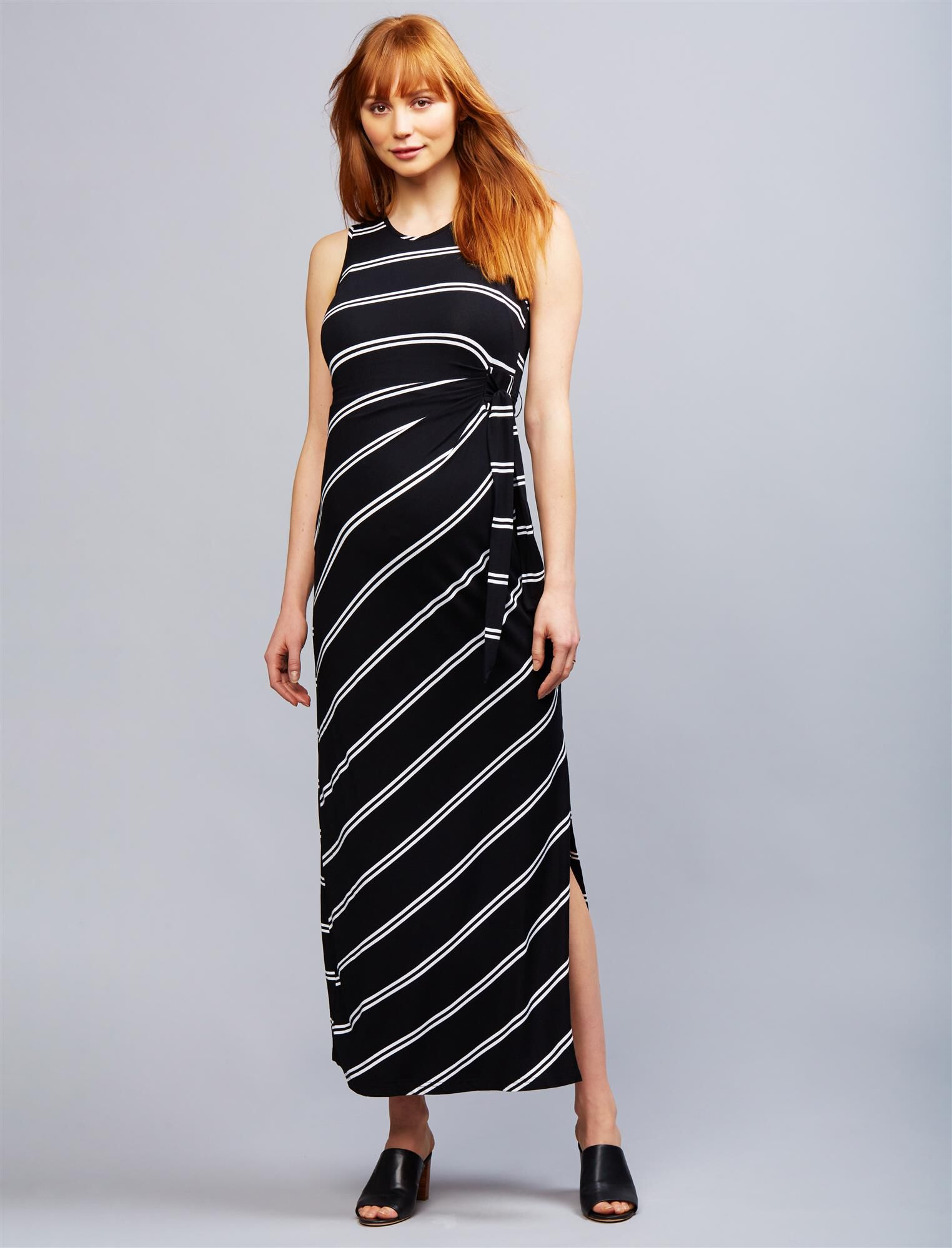 Ripe Side Tie Maternity Maxi Dress
