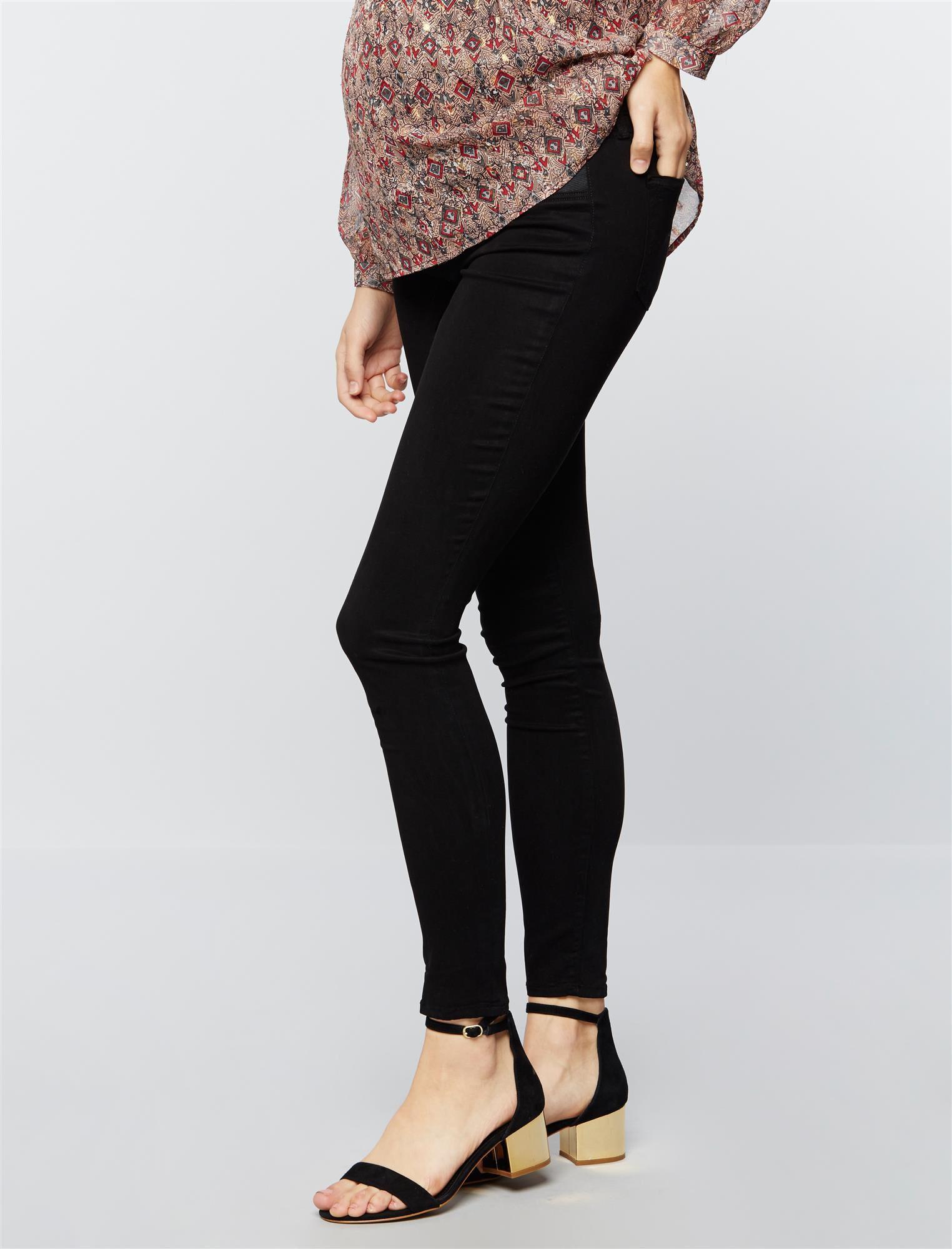 J Brand Under Belly Mama J Super Skinny Maternity Jeans- Black