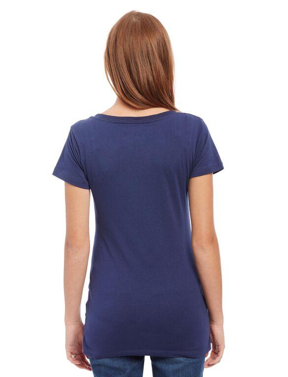 New England Patriots NFL Short Sleeve Maternity Graphic Tee, Patriots Blue
