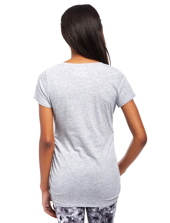Hatching Soon Maternity Tee, Grey