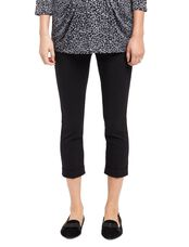 Stretch Suiting Straight Ankle Maternity Pants, Synthetic Black