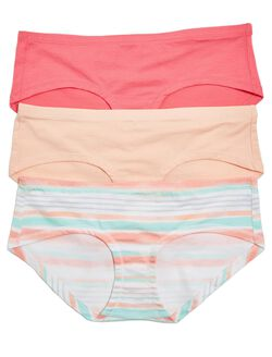Maternity Hipster Panties (3 Pack), Coral Multi Pack