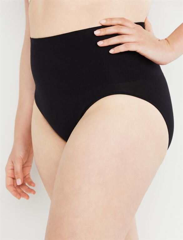 Post Pregnancy Panty (2 Pack), Black/Nude