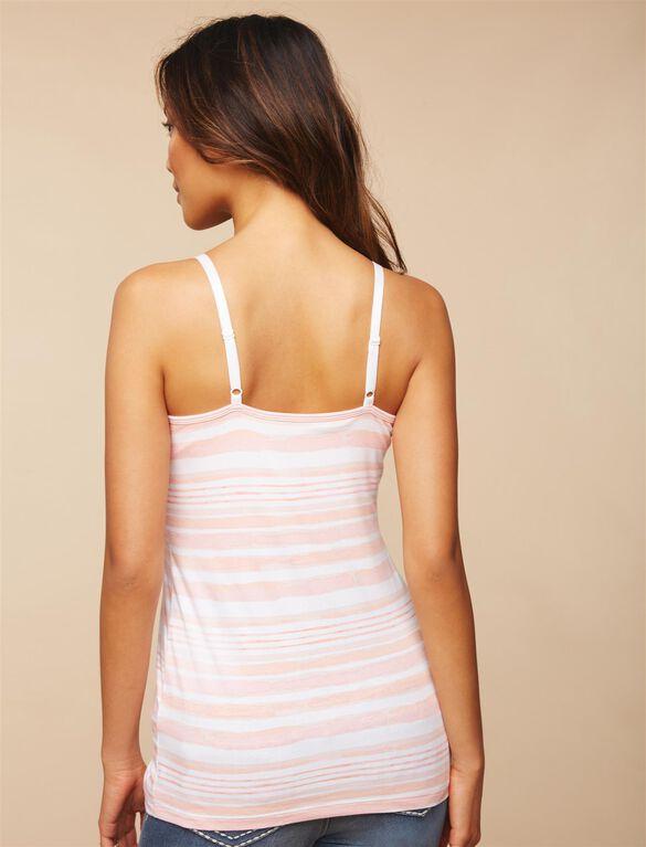 Clip Down Nursing Cami, Orange Stripe