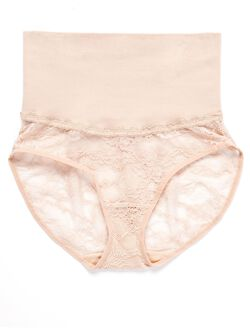 Seamless Compression Lace Post Pregnancy Panty, Nude
