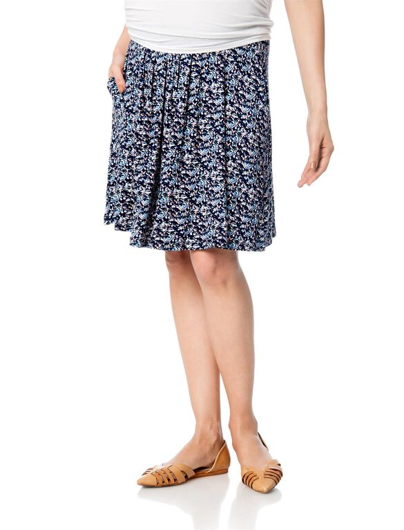 Design History Under Belly A-line Maternity Skirt, Multi Print