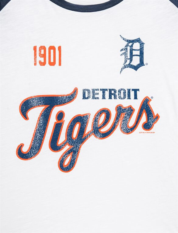 Detroit Tigers MLB Raglan Sleeve Maternity Tee, Tigers