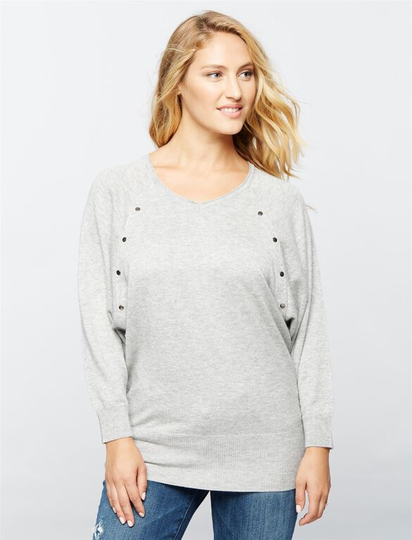 Ripe Batwing Nursing Top, Grey