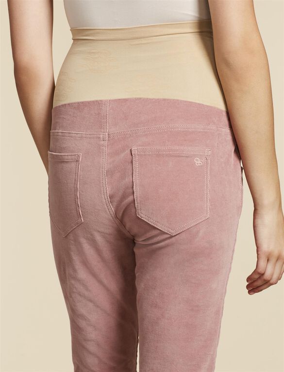 Jessica Simpson Secret Fit Belly Corduroy Skinny Leg Maternity Pants, PINK