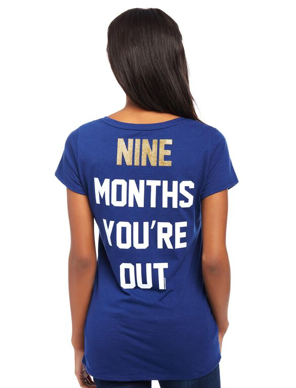 San Diego Padres MLB You're Out Maternity Tee, Padres Navy