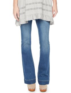 Indigo Blue Secret Fit Belly Vintage Flare Maternity Jeans, Vintage Medium Wash