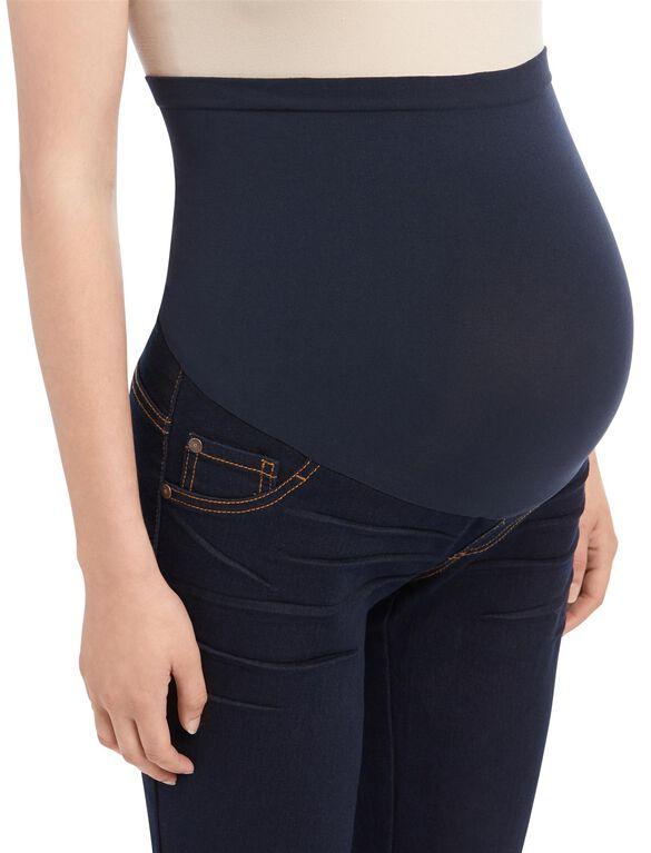 Indigo Blue Secret Fit Belly Rinse Skinny Maternity Jeans, Rinse