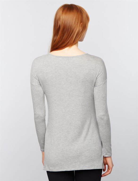 Beyond The Bump Super Soft Maternity Top, Heather Grey
