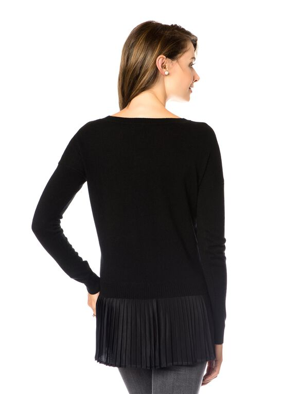 Skirted Maternity Sweater, Black