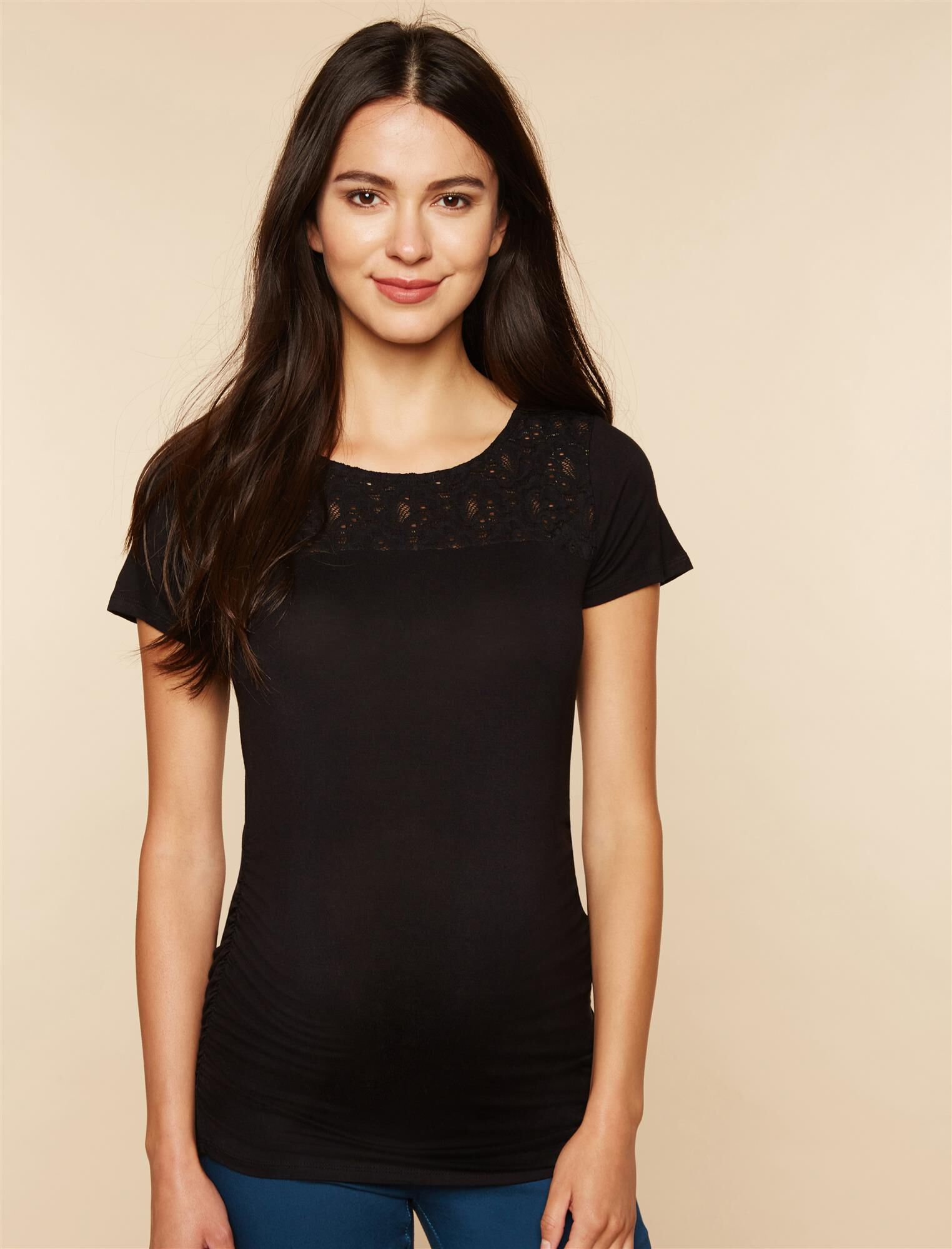 Lace Maternity T Shirt