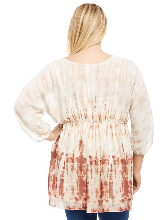 Plus Size Fit And Flare Maternity Blouse, Tye Dye