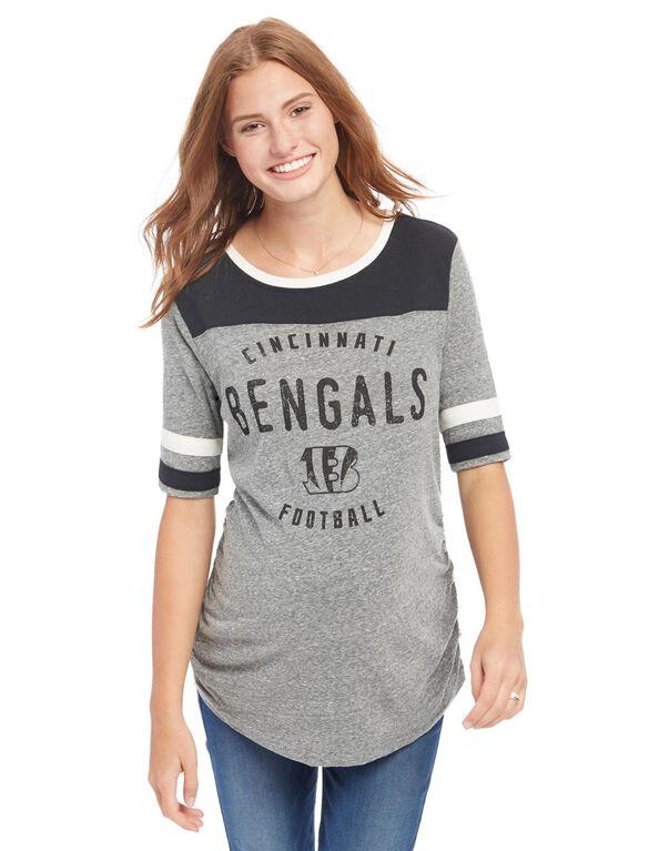 Cincinnati Bengals NFL Elbow Sleeve Maternity Graphic Tee, Bengals Orange