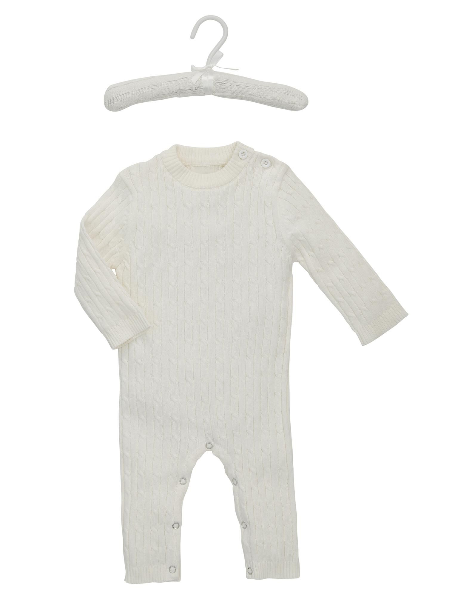 Baby Cable Knit Jumpsuit By Elegant Baby