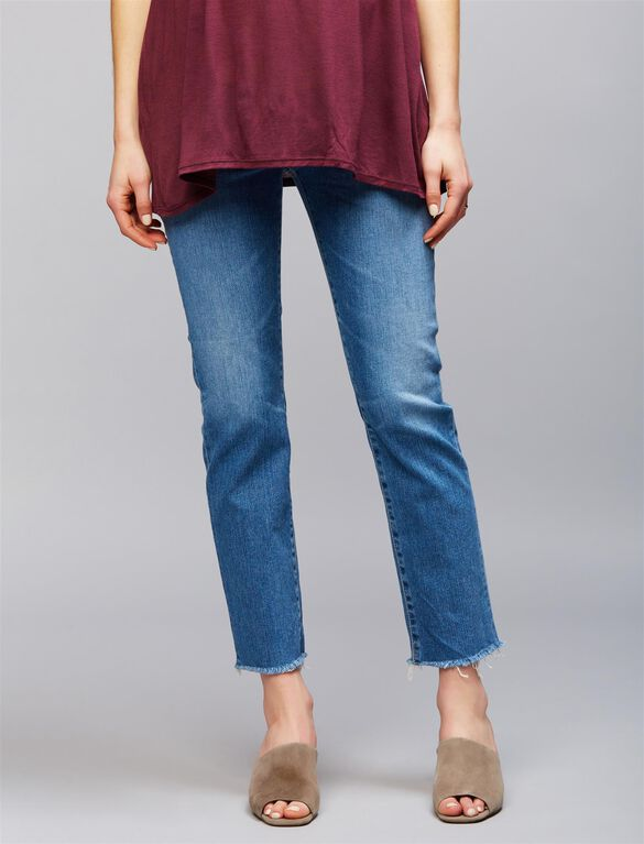 AG Jeans Secret Fit Belly Isabelle Straight Crop Maternity Jeans, 14 Years Darling