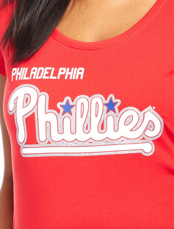 Philadelphia Phillies MLB You're Out Maternity Tee, Phillies Red