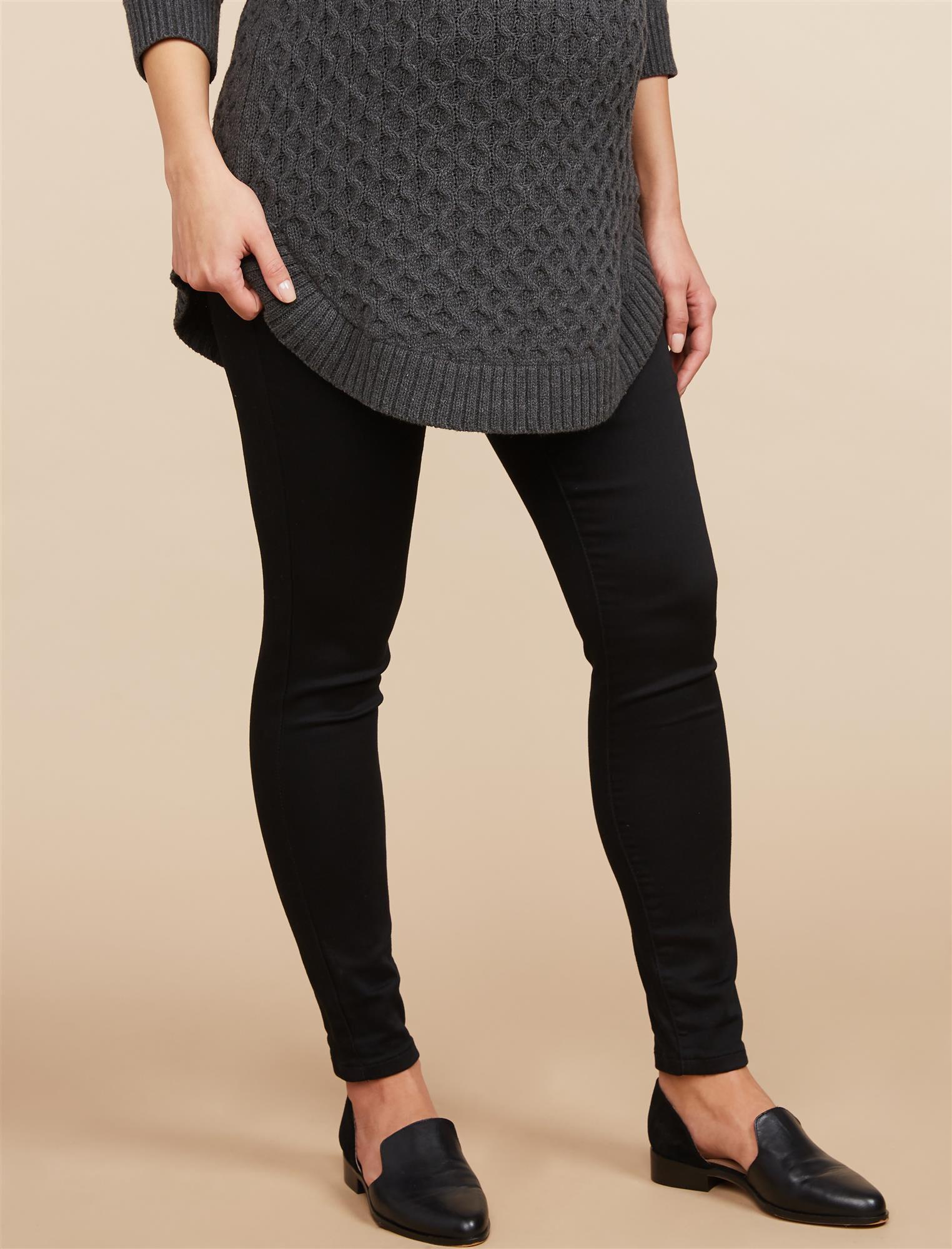 Secret Fit Belly Skinny Twill Maternity Pants- Black