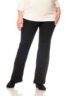 Motherhood Plus Size Petite Boot Cut Maternity Pants, Black