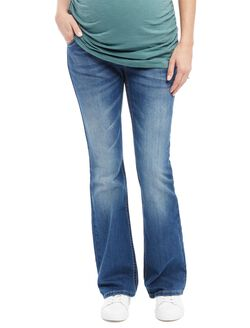 Secret Fit Belly Boot Cut Maternity Jeans, Dark Wash