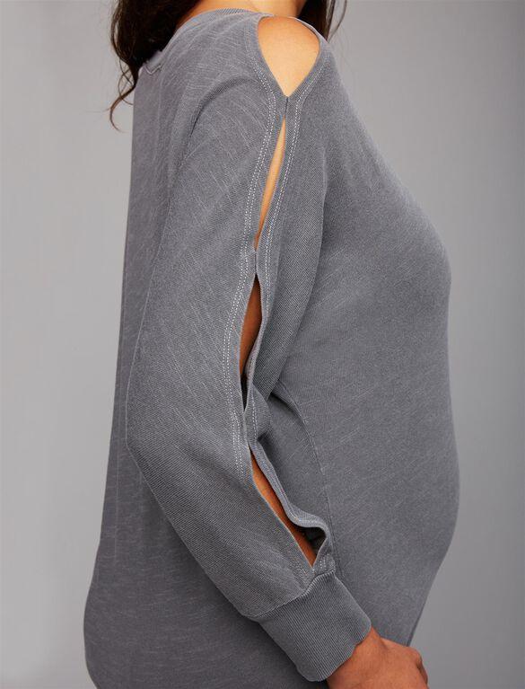 Splendid Relaxed Fit Maternity Sweatshirt, Lead
