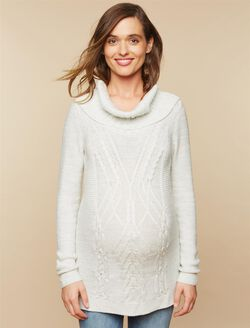 Drape Front Maternity Sweater, Grey