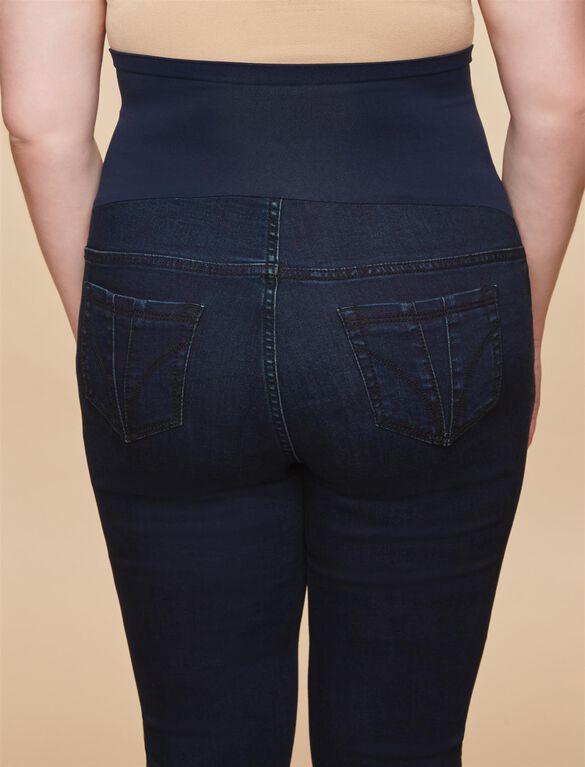 Plus Size Secret Fit Belly Skinny Maternity Jeans- Dark, Twilight Dark Wash