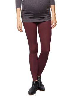 David Lerner Secret Fit Belly Coated Maternity Leggings, Bordeaux