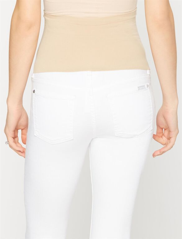 7 For All Mankind Secret Fit Belly Skinny Maternity Jeans- White, Clean White