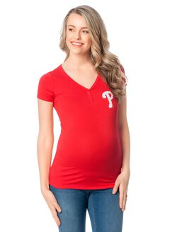 Philadelphia Phillies Mlb Short Sleeve Maternity Graphic Tee, Phillies