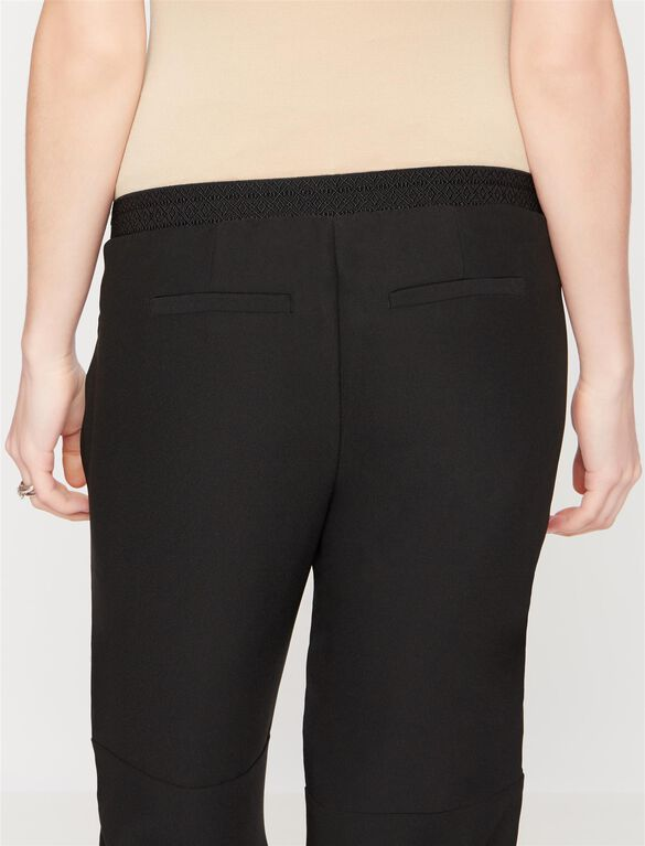 Under Belly Crepe Skinny Leg Maternity Pants, Black